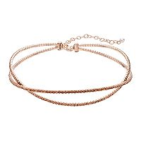 Napier Twisted Double Strand Choker Necklace