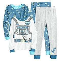Boys 4-12 Carter's Astronaut 4-Piece Pajama Set