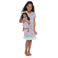 Girls 4-14 Jammies For Your Families Floral Nightgown & Doll Gown Set