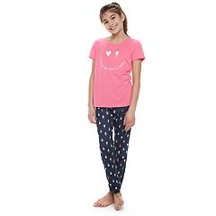 Girls 4-14 Jammies For Your Families 'Luv Ya More Than Ice Cream' Tee & Bottoms Pajama Set