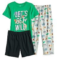 Boys 4-8 Carter's Wild Safari 3-Piece Pajama Set