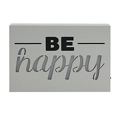 Simple by Design 'Be Happy' LED Sign Wall Decor