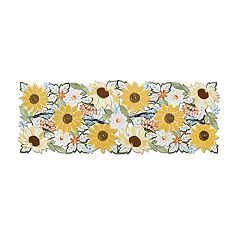 Celebrate Fall Together Sunflower Table Runner - 36'