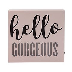 Simple by Design 'Hello Gorgeous' LED Sign Wall Decor