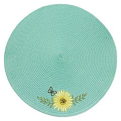 Celebrate Fall Together Round Sunflower Placemat