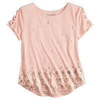 Girls 7-16 & Plus Size Mudd® Strappy Graphic Tee