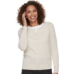 Petite Croft & Barrow® Essential Cardigan Sweater