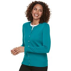 Petite Croft & Barrow® Essential Cardigan Sweater