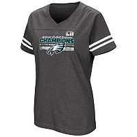 Women's Philadelphia Eagles 2017 NFC Champions Delivering Victory Tee