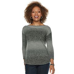 Petite Napa Valley Curved Hem Sweater