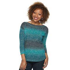 Petite Napa Valley Curved Hem Sweater
