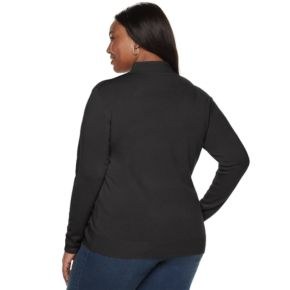 Plus Size Napa Valley Long Sleeve Mock Neck Sweater