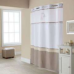 Hookless Windsor Colorblock Shower Curtain & Liner