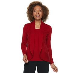 Petite Napa Valley Pointelle Long Sleeve Top