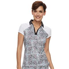 Women's Grand Slam Print Cap Sleeve Golf Polo