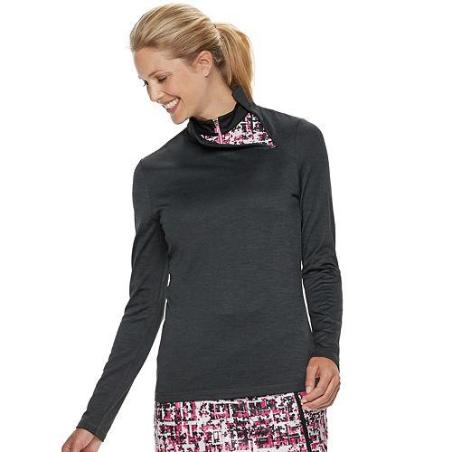 Women's Grand Slam Long Sleeve Waffle-Knit Golf Top