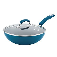Rachael Ray 11-in. Aluminum Nonstick Stir Fry Pan