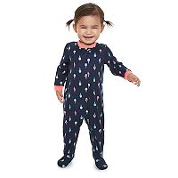Baby Jammies For Your Families Ice Cream Cone Footed Pajamas