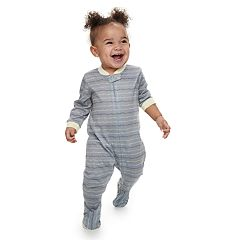 Baby Jammies For Your Families Dash Striped Footed Pajamas