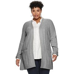 Plus Size Napa Valley Cozy Ribbed Cardigan