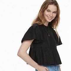 k/lab Ruffle Peplum Crop Top