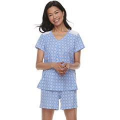 Women's Croft & Barrow® Printed Tee & Shorts Pajama Set