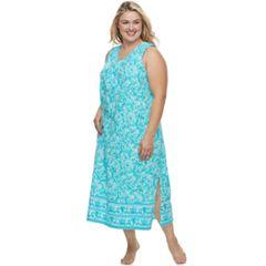 Plus Size Croft & Barrow® Printed Maxi Nightgown