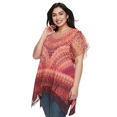 Plus Size World Unity Flutter Sleeve Sharkbite Top