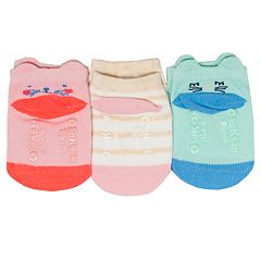 Baby / Toddler Girl OshKosh B'gosh® 3-pack Critter Ankle Socks