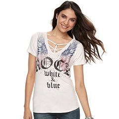 Women's Rock & Republic® 'Rock White & Blue' Graphic Tee