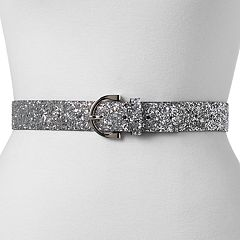 Women's Mudd® Glitter Belt