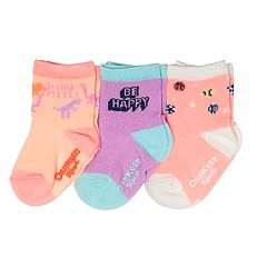 Baby / Toddler Girl OshKosh B'gosh® 3-pack Glow-in-the-Dark Crew Socks