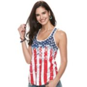 Women's Rock & Republic® Flag Racerback Tank