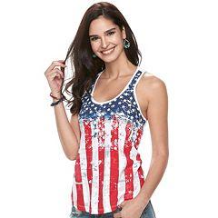 Women's Rock & Republic® Flag Racerback Tank