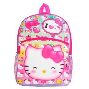 Kids Hello Kitty® Backpack, Lunch Bag, Pencil Case, Water Bottle & Carabiner Set