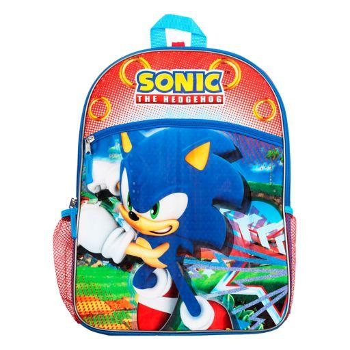 Kids Sonic the Hedgehog Backpack, Lunch Bag, Pencil Case, Water Bottle & Sling Bag Set