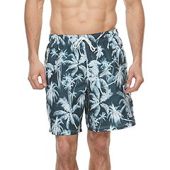 Big & Tall Croft & Barrow® Tropical Printed Swim Trunks