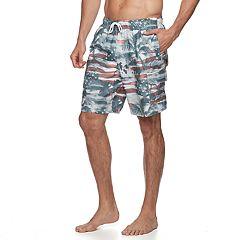 Big & Tall Croft & Barrow® Frenzy Swim Trunks