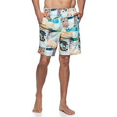Big & Tall Croft & Barrow® Sunday News Swim Trunks