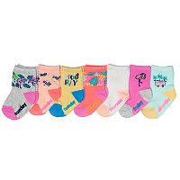 Baby / Toddler Girl OshKosh B'gosh® 7-pack Tropical Days of the Week Crew Socks