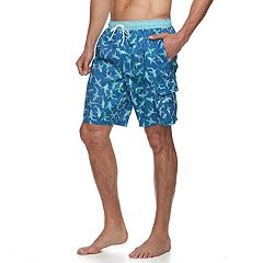 Big & Tall Croft & Barrow® American Palms Swim Trunks
