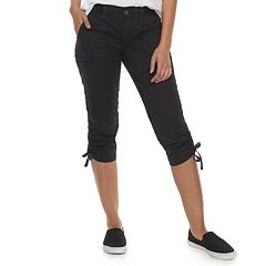 Women's SONOMA Goods for Life™ Ultra Comfortwaist Ruched Utility Capris
