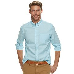 Men's SONOMA Goods for Life™ Slim-Fit Poplin Stretch Button-Down Shirt