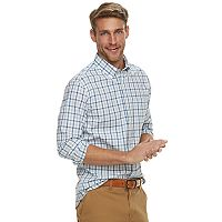 Men's SONOMA Goods for Life™ Slim-Fit Poplin Stretch Button-Down Shirt