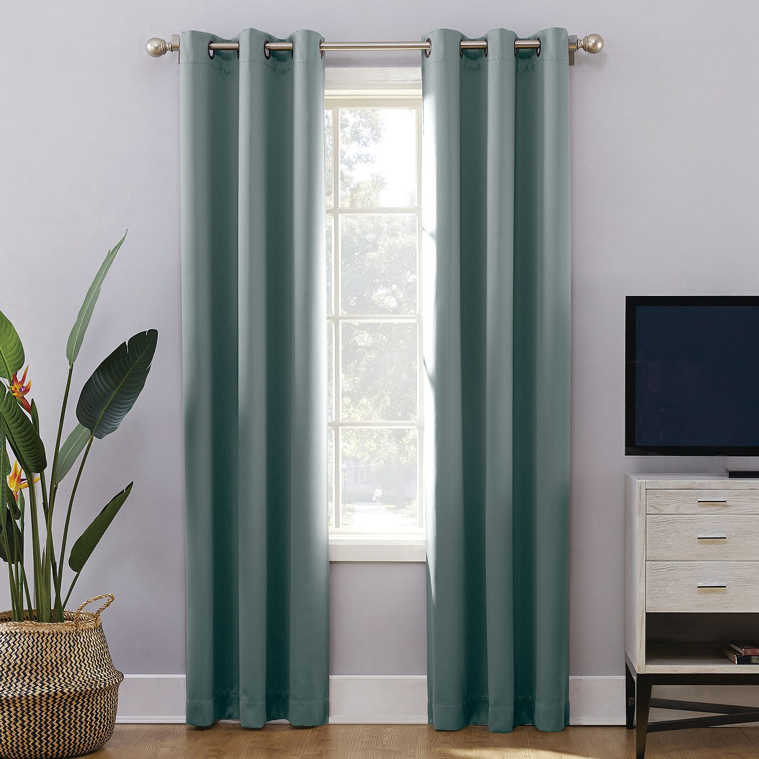 Charmant Sun Zero Extreme 2 Pack Norway Theater Grade Blackout Window Curtain