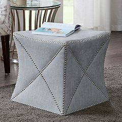 Madison Park Curtner Cube Ottoman