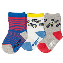 Baby / Toddler Boy OshKosh B'gosh® 3-pack Racecar Crew Socks