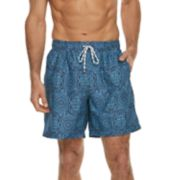 Men's Croft & Barrow® Medallion Printed Swim Trunks
