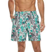 Men's Croft & Barrow® Printed Swim Trunks