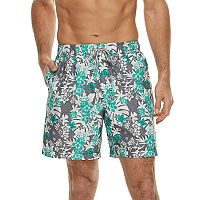 Men's Croft & Barrow® Printed Swim Trunks